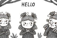 Olia-Shovkova-Little-Girl-BW-hello