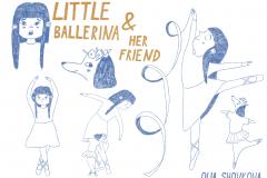 Olia-Shovkova-Little-ballerina-and-her-friend-sketches